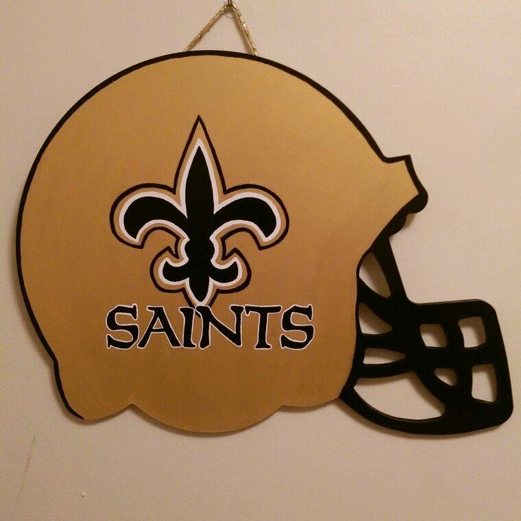 New Orleans Saints Football Helmet Door Hanger Designs by Monee ...