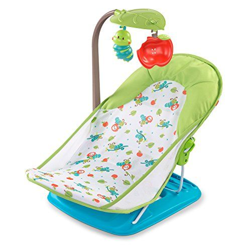 The #Summer #Infant Deluxe Baby Bather With Toybar cradles newborns, making bath time easier and safer. The bather has a 3 position recline, helping baby to feel ...