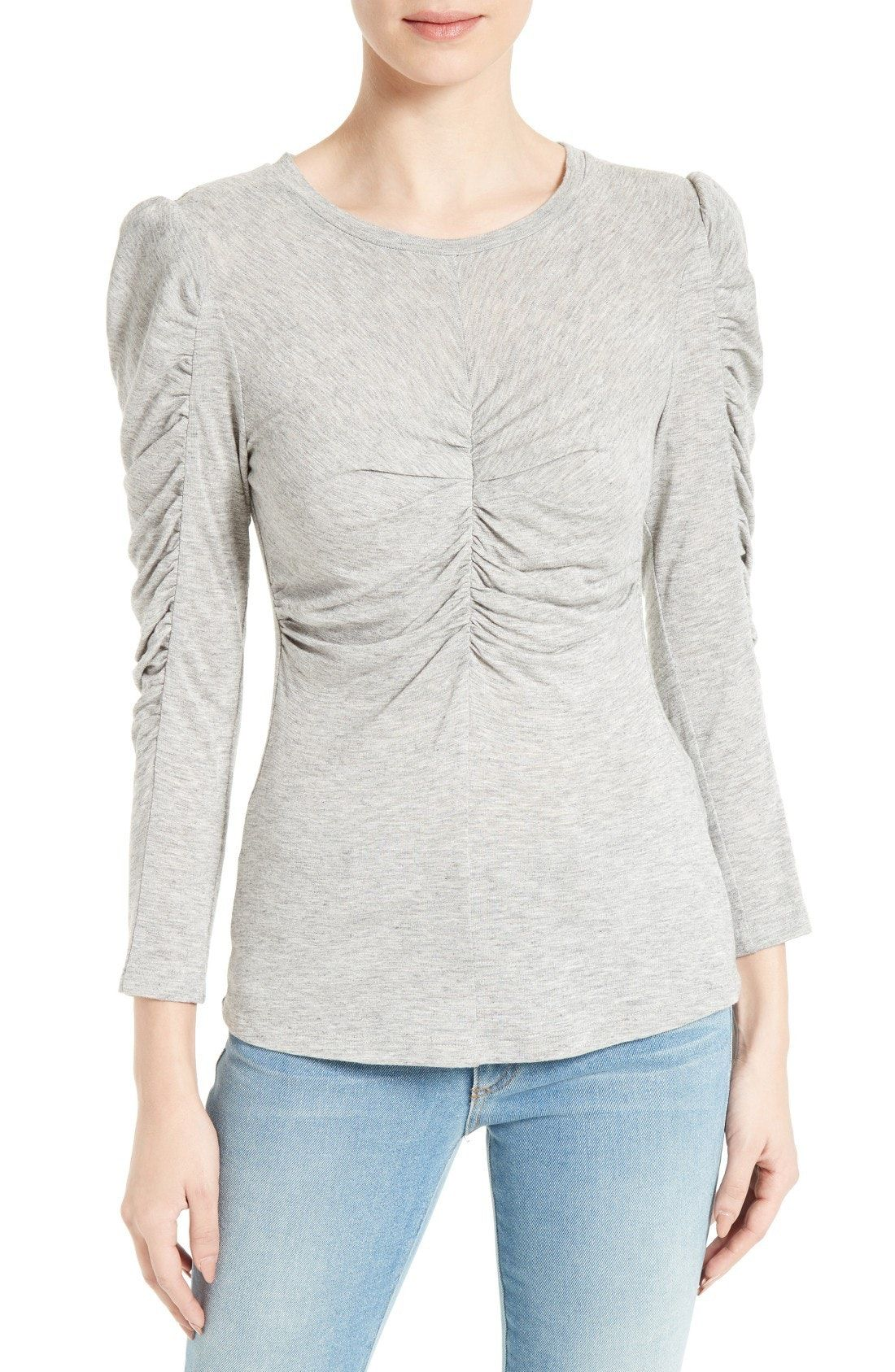 ccb7bf18b30a6 New Rebecca Taylor Ruched Tee ARMY fashion online.   77.98  new offer from  Newtstyle Shop