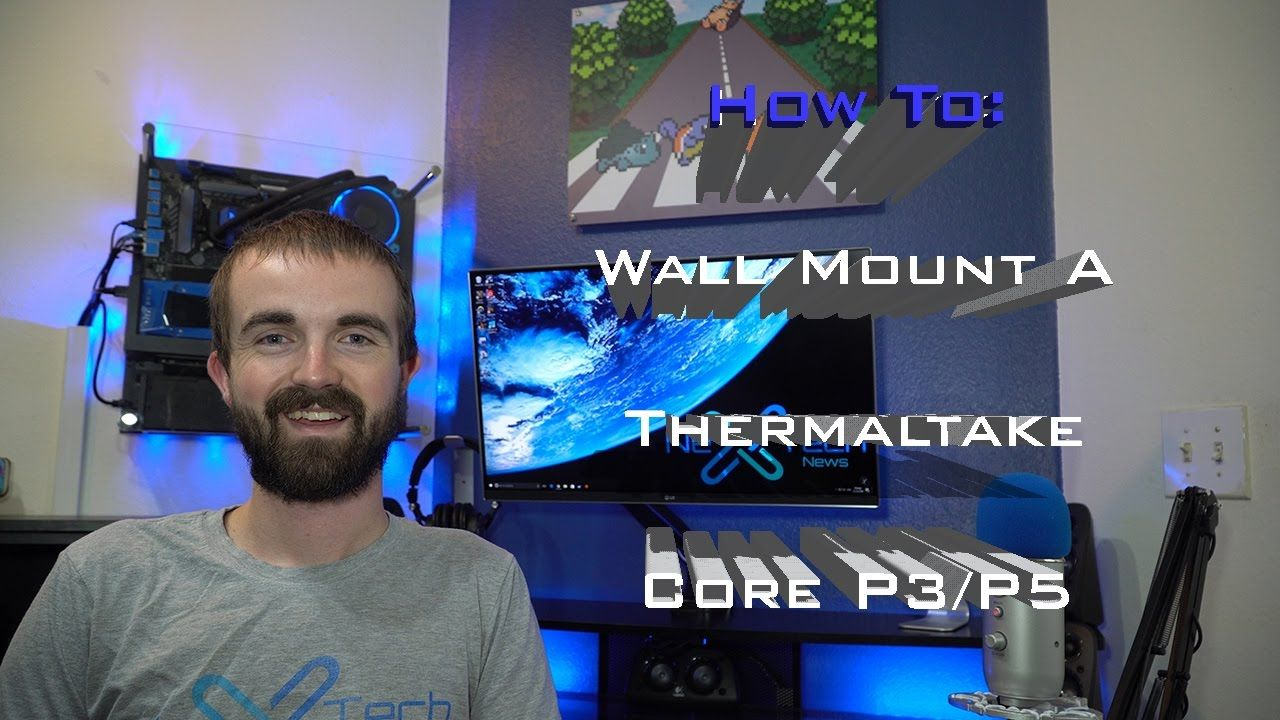 How To Wall Mount A Thermaltake Core P3 P5 Wall Mount Custom Pc Mounting