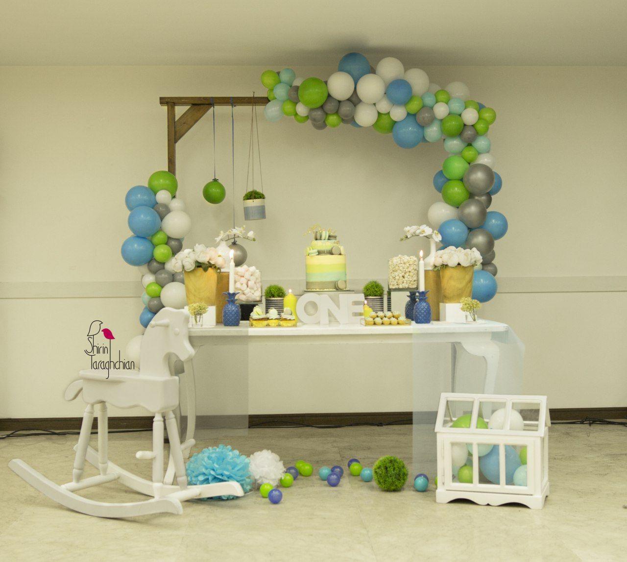 St Birthday Table Decoration Candy Bar Baby Boy Also Shirin Yaraghchian Syaraghchian Rh