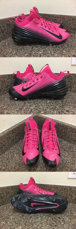 san francisco 71bd9 b035f ... Mens 159059 Nike Lunar Vapor Trout Mothers Day Baseball Cleats Size 10  Pink Blk 777175 ...