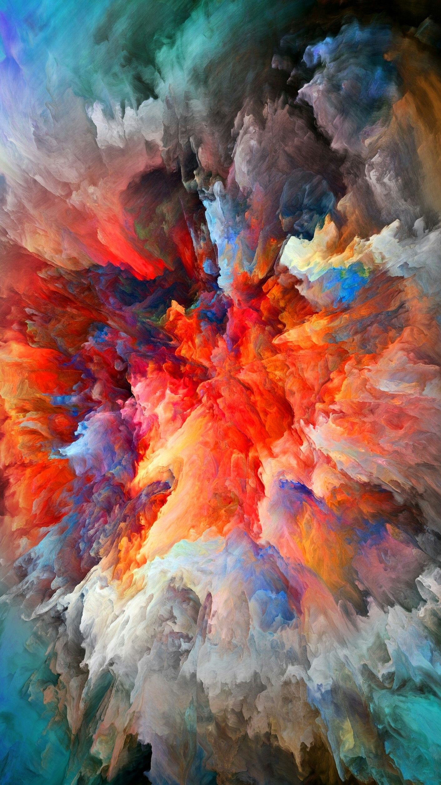colorful smoke explosion   Wallpapers