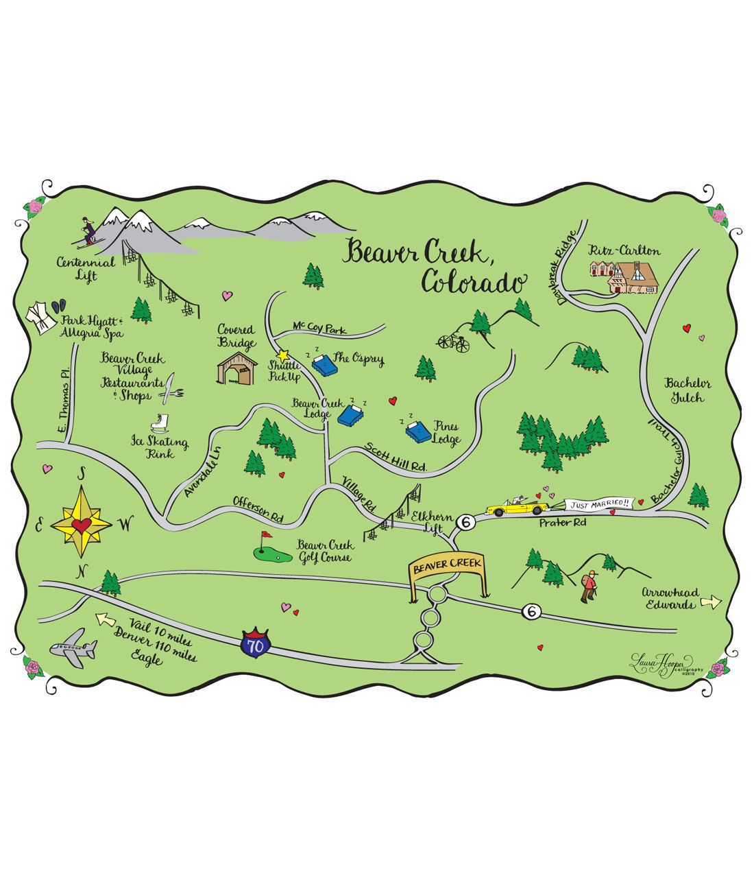 Beaver Creek Co Wedding Map Tote Bags Info Card Pinterest