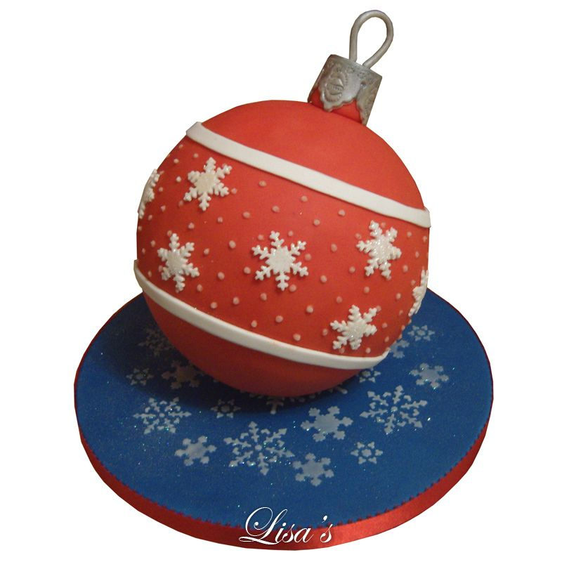 christmas bauble cake google search