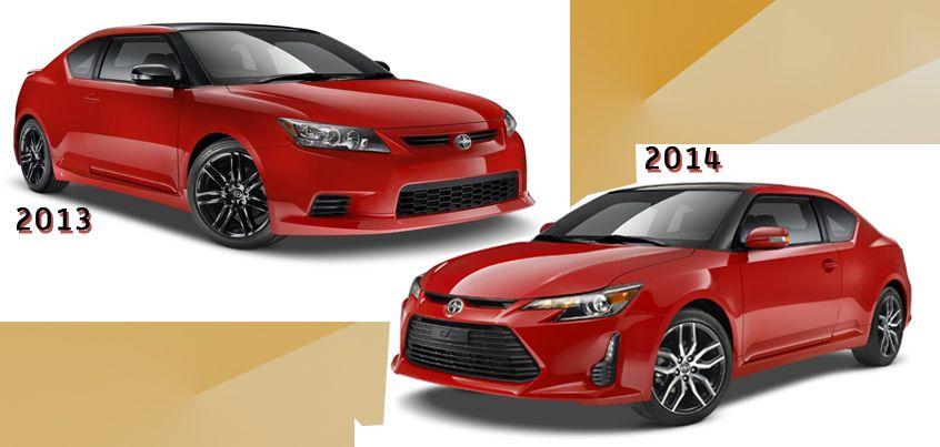 Comparing The 2013 And 2014 Scion Tc Scion Tc 2014 Scion Tc Scion