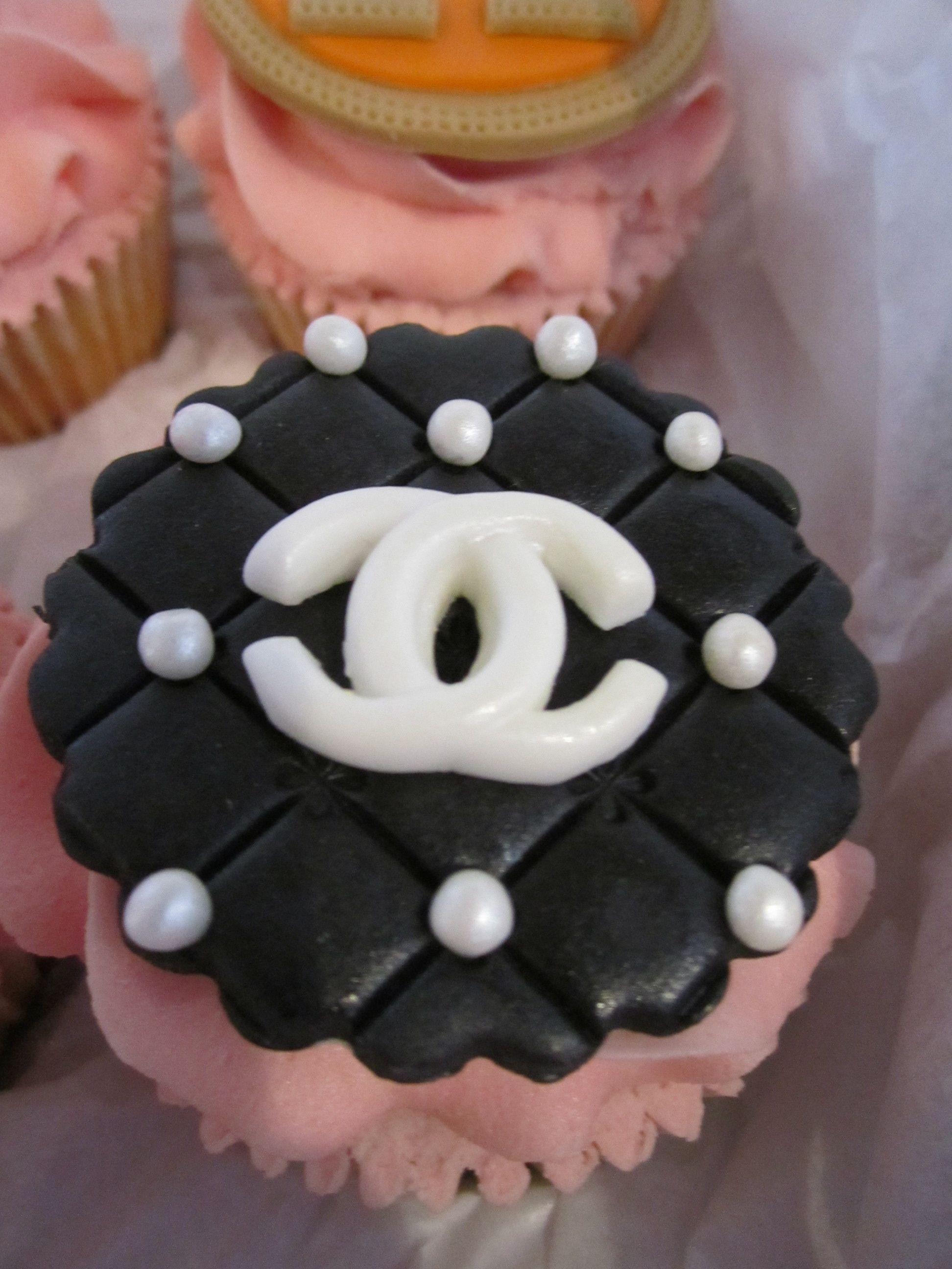 Designer Handbag Cupcake Topper In The Style Of Chanel