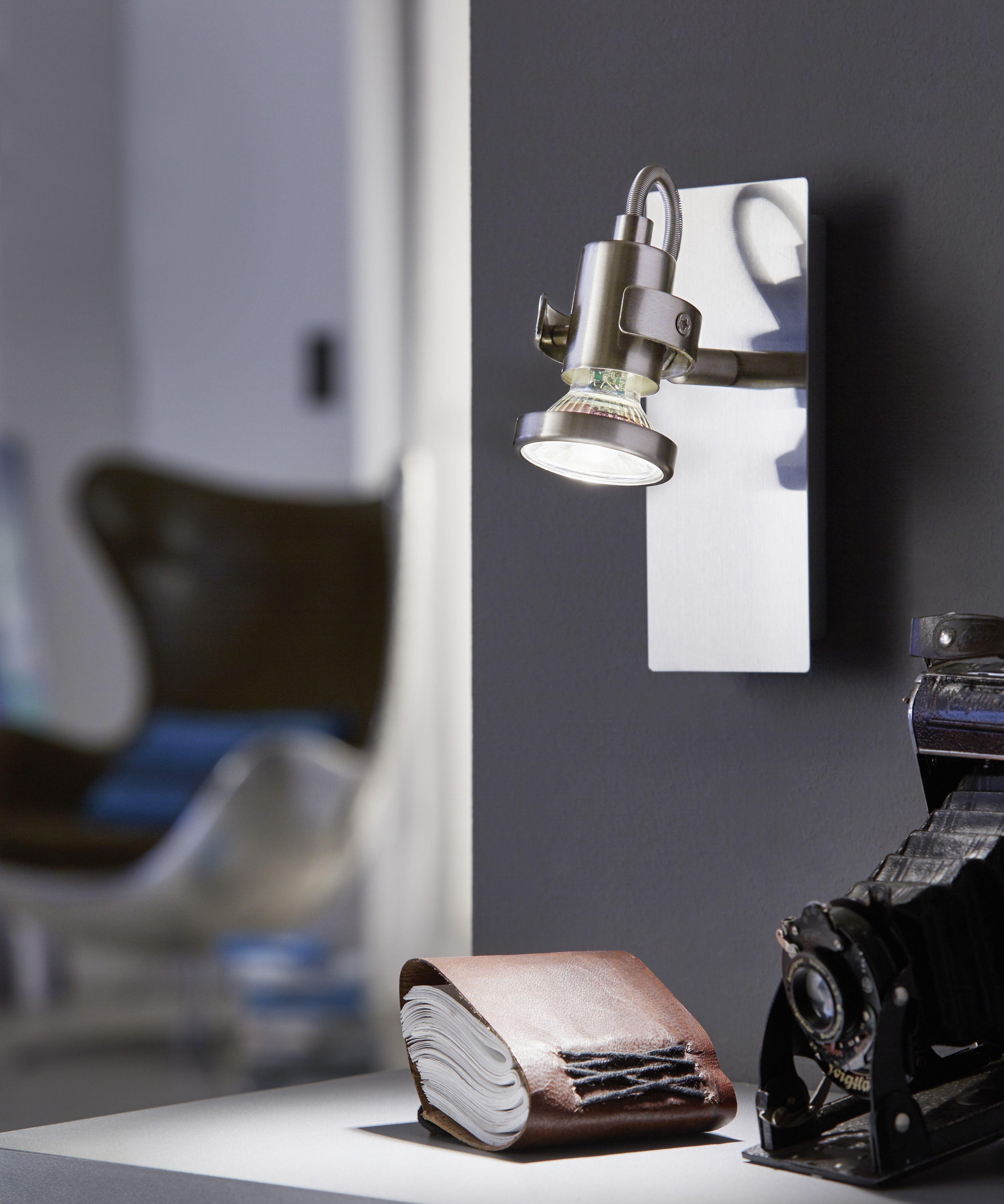 Eglo Lighting Tukon LED Satin Nickel Modern 1 Lamp Switched Spot