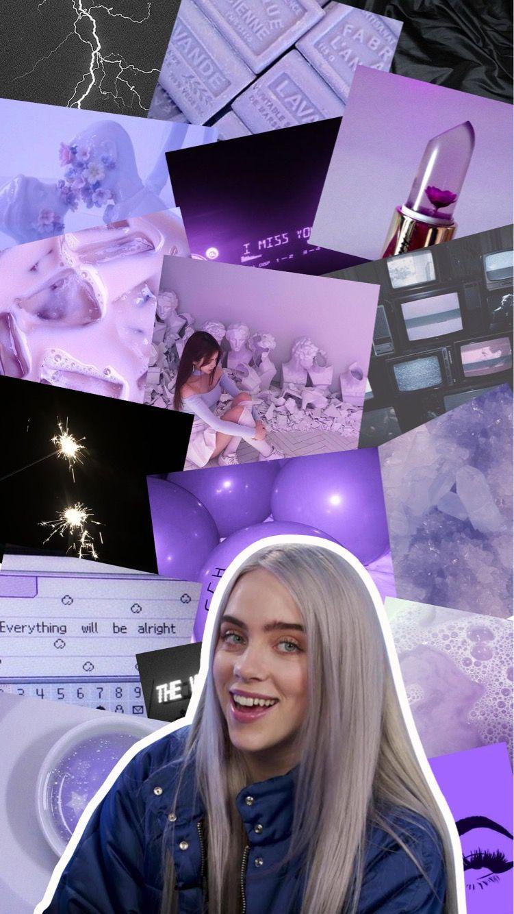 Pin By Billie Eilish On B I L L I E E I L I S H Billie Eilish Billie Purple Aesthetic