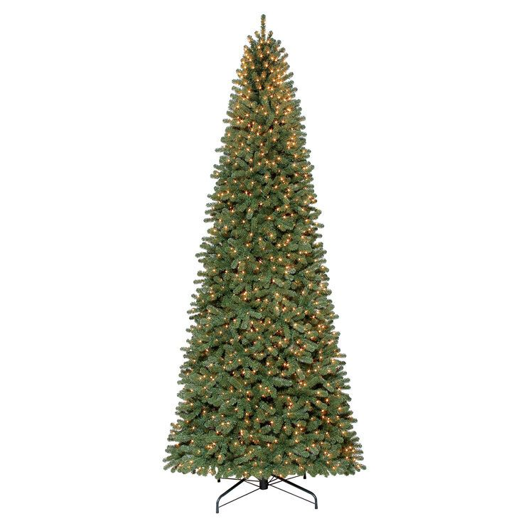 C35 12 Pre Lit Walker Spruce Tree With 1 350 Clear Lights Slim Artificial Christmas Trees Artificial Christmas Tree Pre Lit Christmas Tree