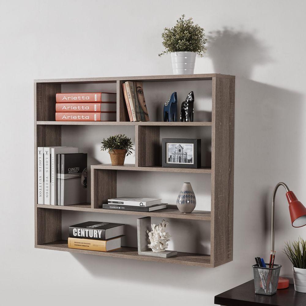 Large Rectangular Shelf Unit Bookshelf Wall Mount Wooden Furniture Decor Display Danyab Contemporary Shelves Wooden Shelves Kitchen Bookshelf Design