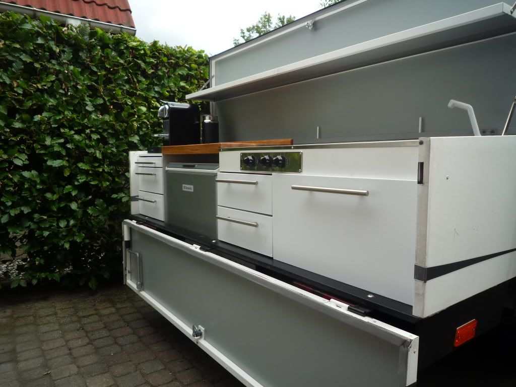 Gepimpte vouwwagen keuken camping ideas combi camp camping en