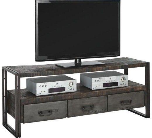Fernsehtisch holz modern  TV-ELEMENT TITAN - Braun, MODERN, Holz/Metall (150/60/45cm ...