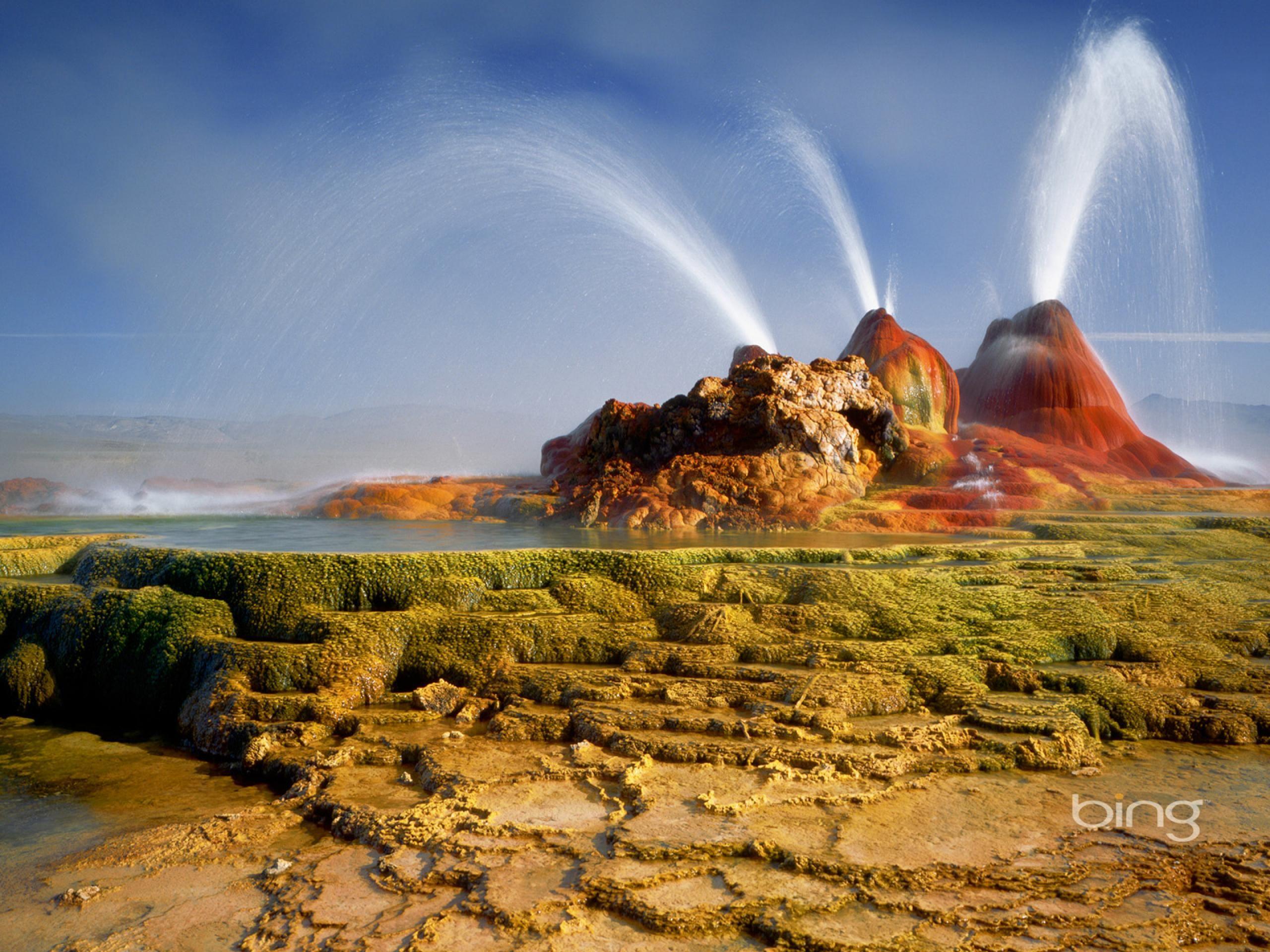 Wallpapers Desert Bing Microsoft Windows Theme Free Travel 2560x1920 Black Rock Desert Places To See Geyser