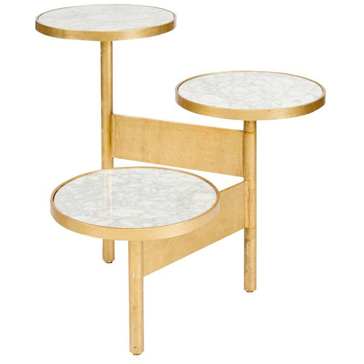Worlds Away Colin 3 Tier Hinged Table Gold Leaf