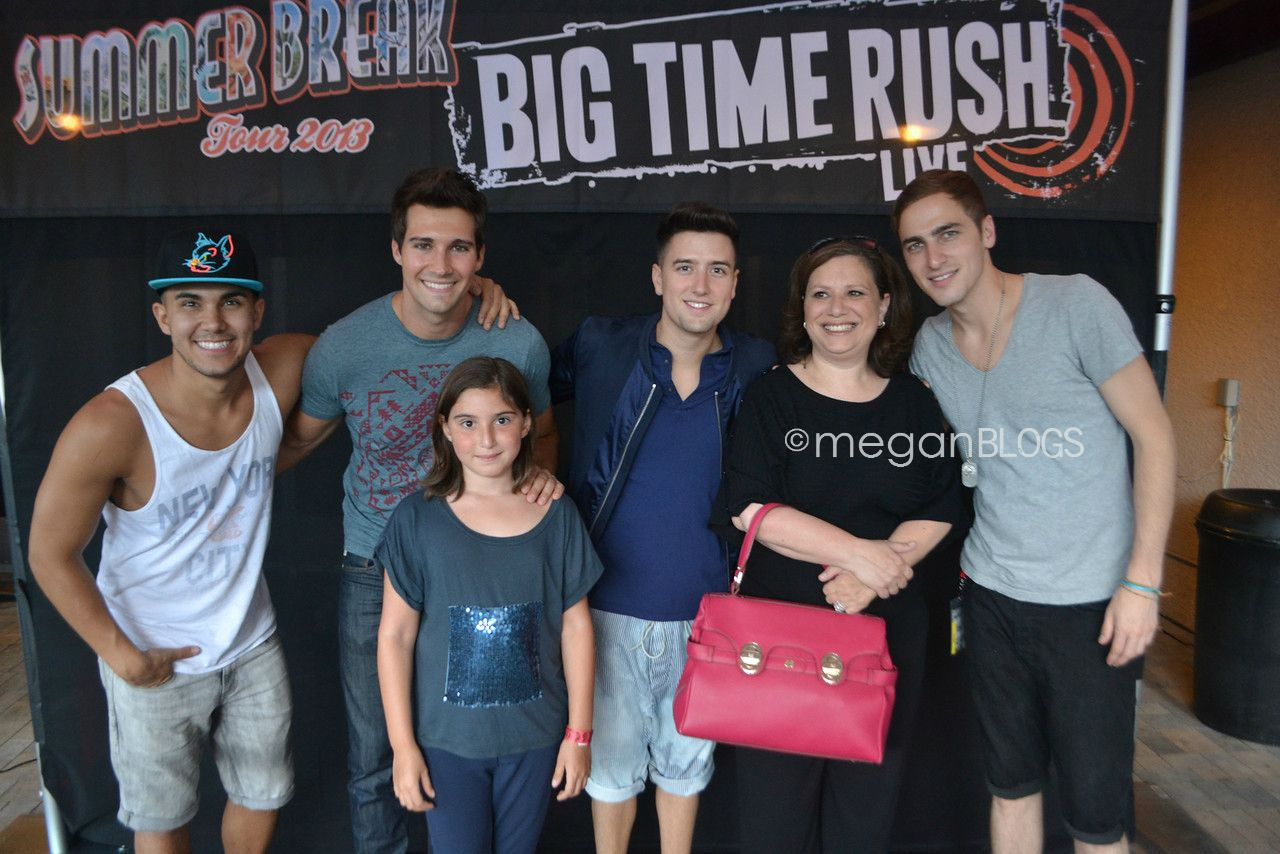 Big Time Rush Summer Break Tour 2013 Meet And Greet With The Band