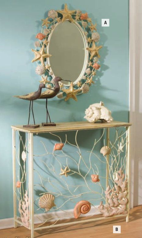 Seashell Mirror From Bathroom Mirrors
