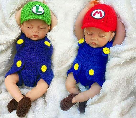 Mario & Luigi from Super Mario Bros Nintendo onzie outfits