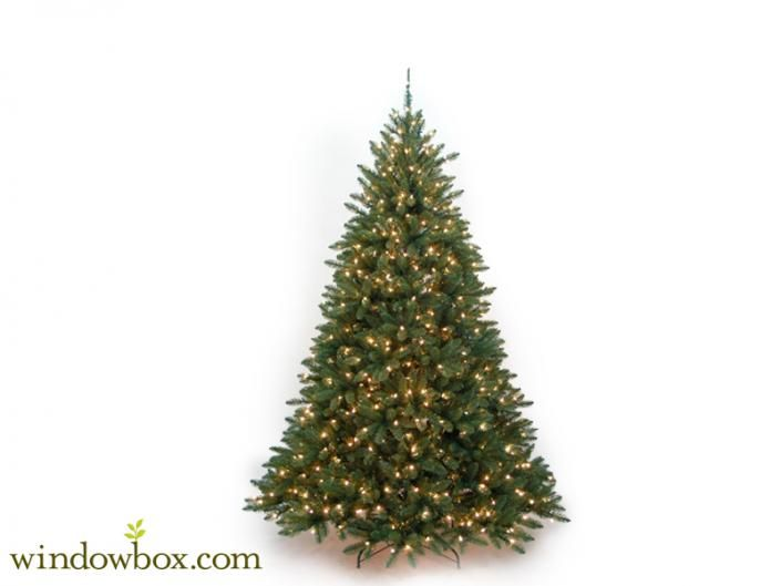 Pre Lit Artificial Christmas Trees, Lighted Artificial Christmas .