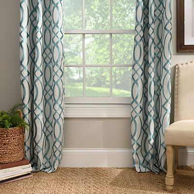 Aqua Avalon Curtain Panel Set  96 in. Aqua Avalon Curtain Panel Set  96 in    Home Improvement