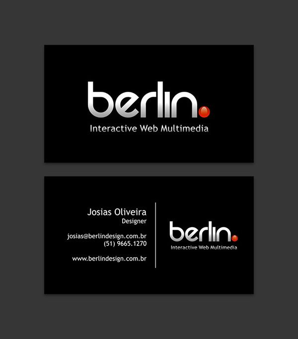 Awesome glossy black business card template designed for berlin awesome glossy black business card template designed for berlin interactive web multimedia wajeb Image collections