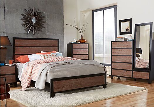 shop for a tranquility place king washed wood 5pc panel bedroom at
