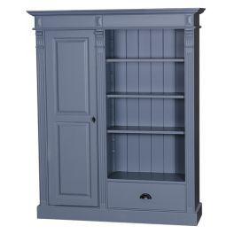 Bonnetière 1 porte 1 tiroir 3 étagères L 130 cm en bois massif 'Caims''