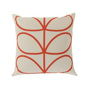 Open Bloom Throw Pillow in Red