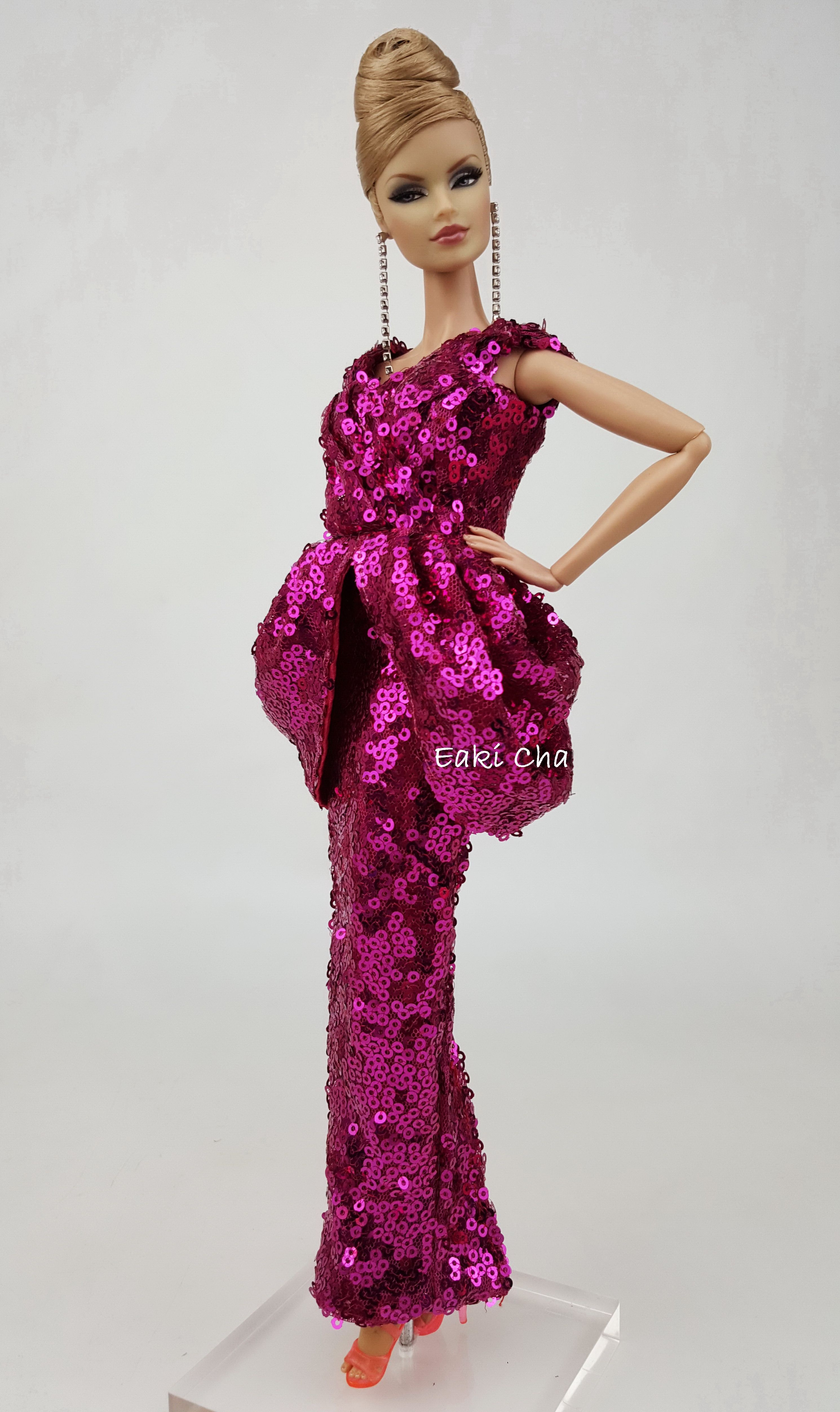 e27530130 Evening Dress Outfit Gown For Silkstone Barbie Fashion Royalty Rupaul FR2  Doll By Eaki Cha