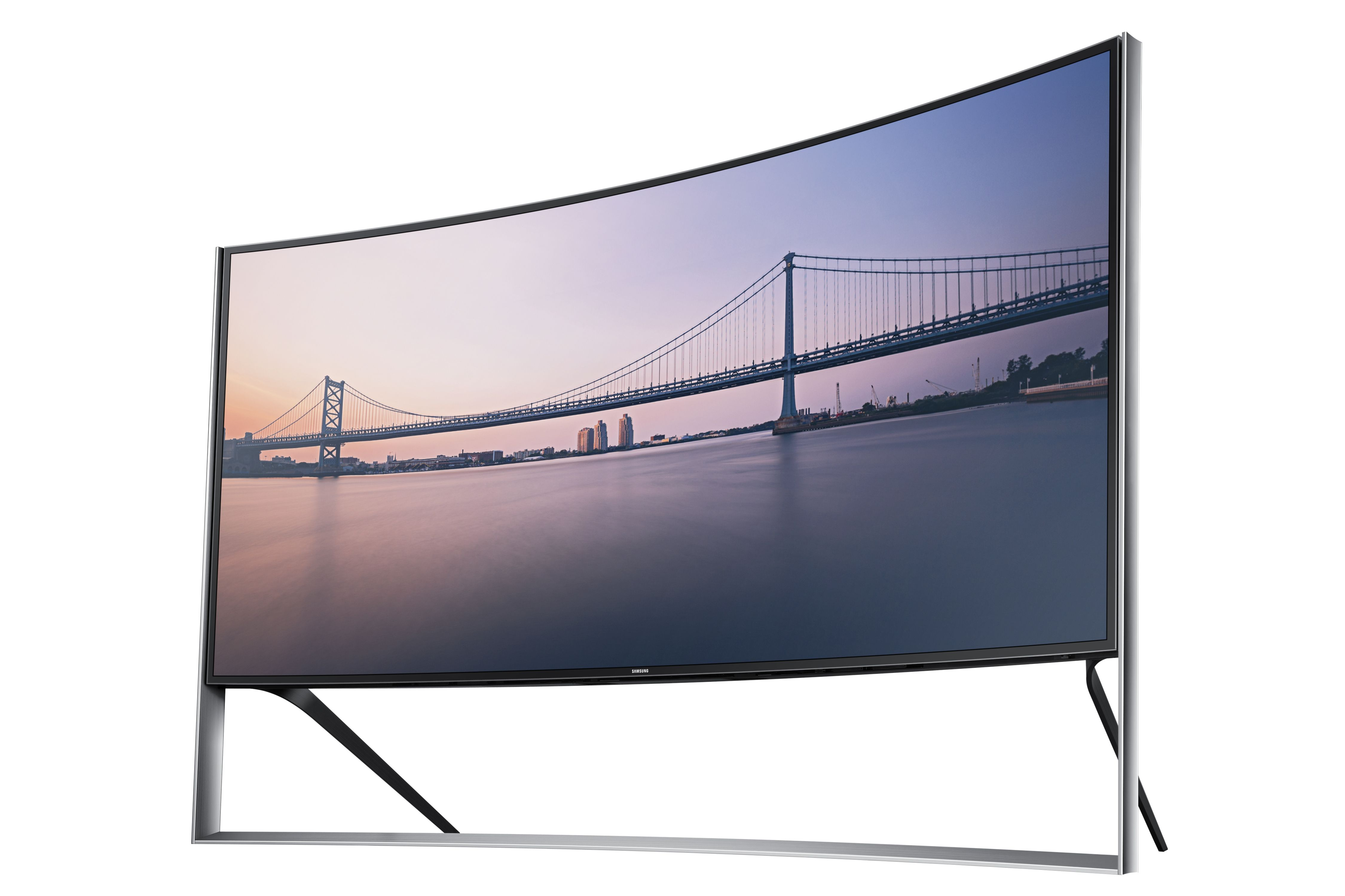 Samsung Curved UHD TV features screen that not only envelops viewers with immersive curved design but also provides a movie theater experience at home