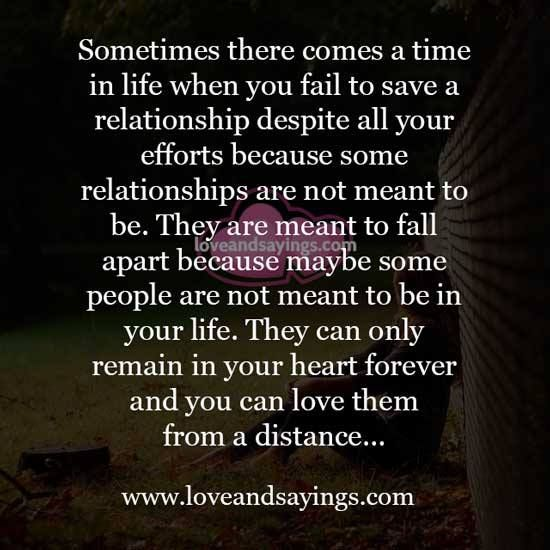 Maybe Some People Are Not Meant To Be In Your Life Meant To Be Quotes Deep Feelings Relationship