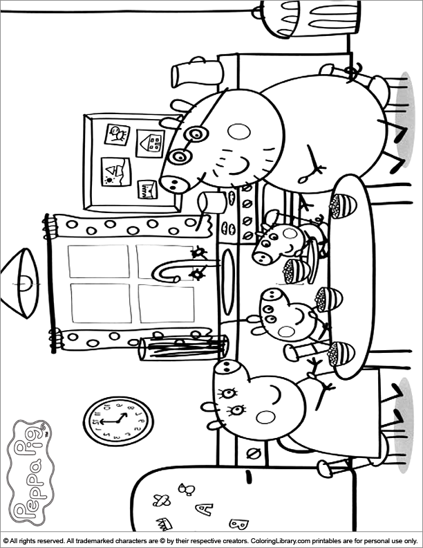 Zoe Zebra Peppa Pig Coloring Pages Images