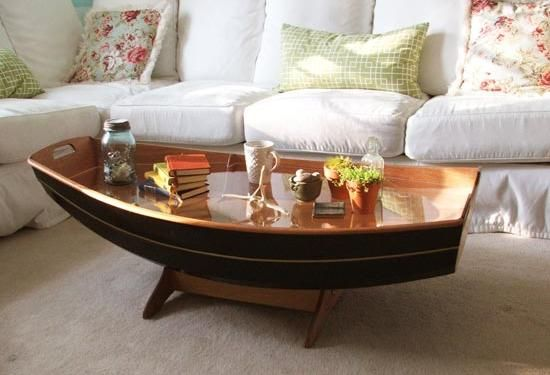 A black boat coffee table for your modern interior coffeetable