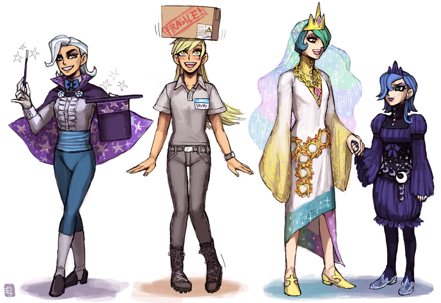 MLP supporting ponies as humans   Comic   Pinterest