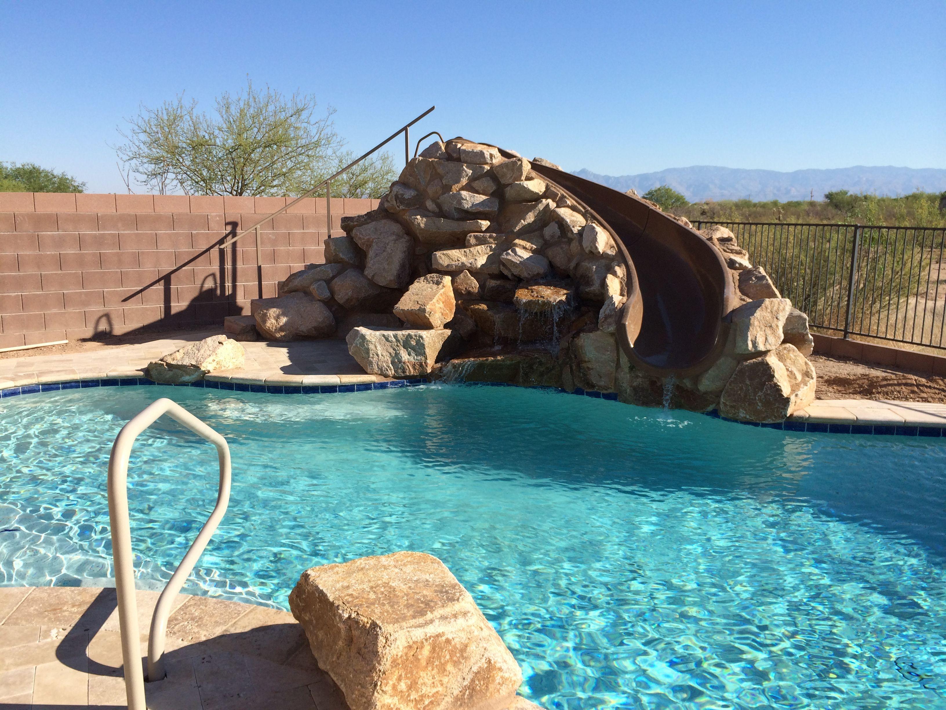 Swimming Pool Slide Rock Pool Slide Pool Slides G Force Slide By Interfab Inc Oasis Pool Pool Patio Backyard Oasis