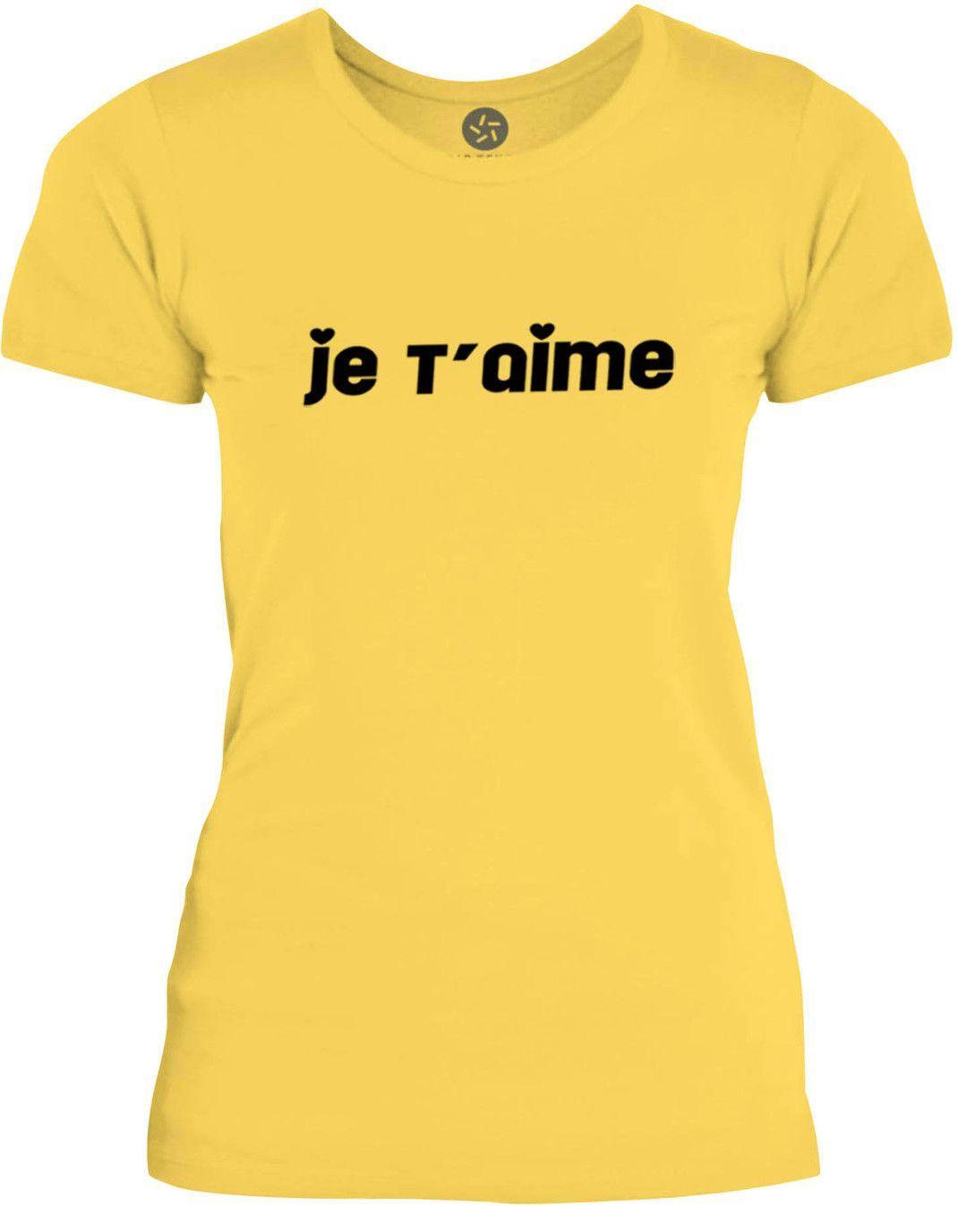 Big Texas Je Taime (Black) Womens Fine Jersey T-Shirt