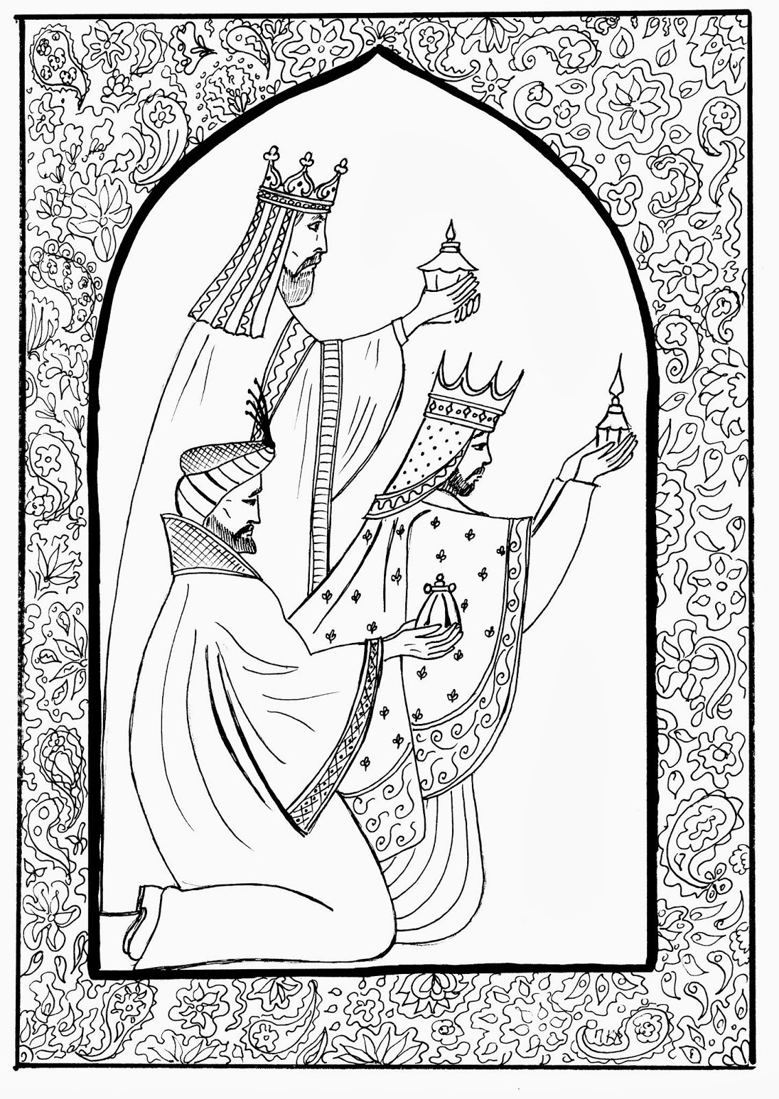 Three wise men coloring page | Christmas + Easter Coloring Pages for ...