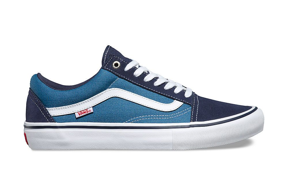 Chaussures Vans Old Skool Pro Bleu Blanc | Navy blue ...