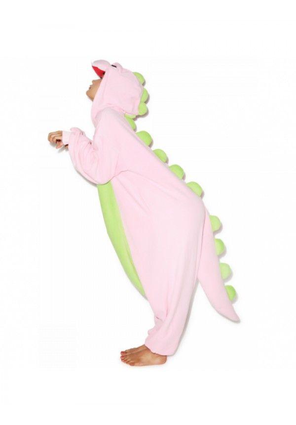 Sazac  Pink Dinosaur Kigurumi | Dolls Kill