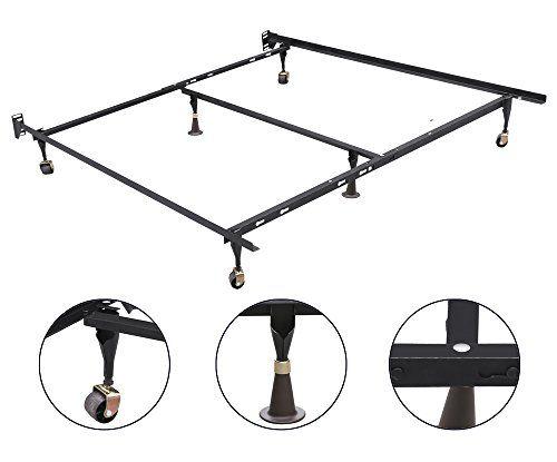 Best Gotobuy Adjustable Metal Queen Full Twin Size Bed Frame W 400 x 300