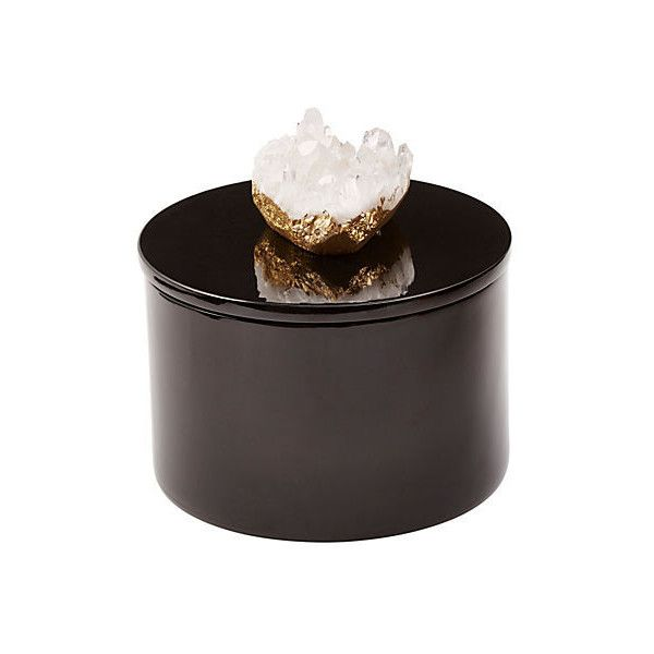 Round Decorative Boxes Captivating Round Black Box W Himalayan Crystal Boxes 805 Sek ❤ Liked On Decorating Design