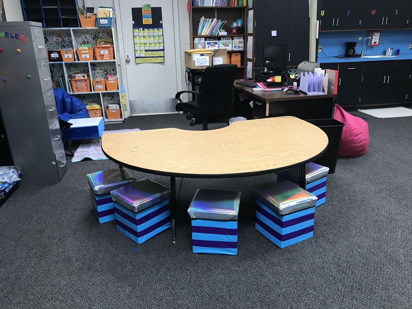 $5 ottomans from Five Below, make great flexible seating ...