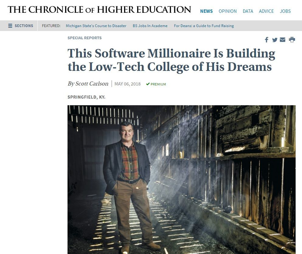 The Chronicle Of Higher Education Published An Interesting Article