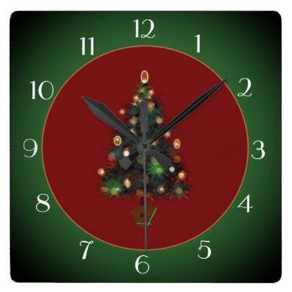decorative xmastree red green xmas clock xmas christmaseve christmas eve christmas merry xmas