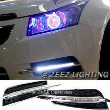 Exact Fit Led Daytime Running Light Drl Fog Lamp Kit Chevy Cruze 2009 2014 09 Chevy Cruze Cruze Chevy Cruze Custom