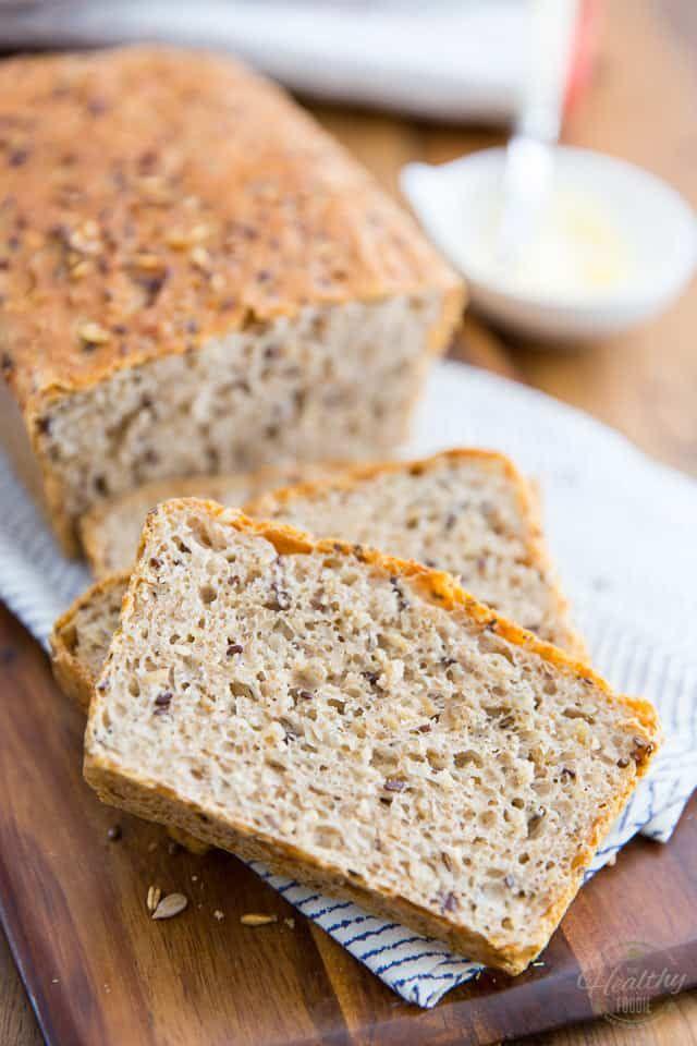 Multigrain No Knead Country Bread | Recipe | Country bread ...
