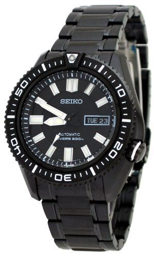 Seiko Men's SKZ329 Diver's Stainless Steel Black Dial Watch Seiko. $297.80. Water resistant. Black dial; Luminescent hands. Scratch-resistant hardlex crystal. Stainless steel case and bracelet. Automatic movement. Save 40%!