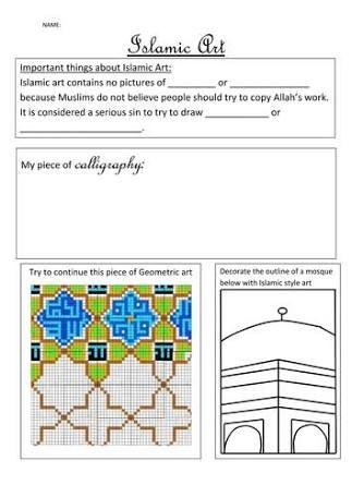 students artwork worksheets Google Search