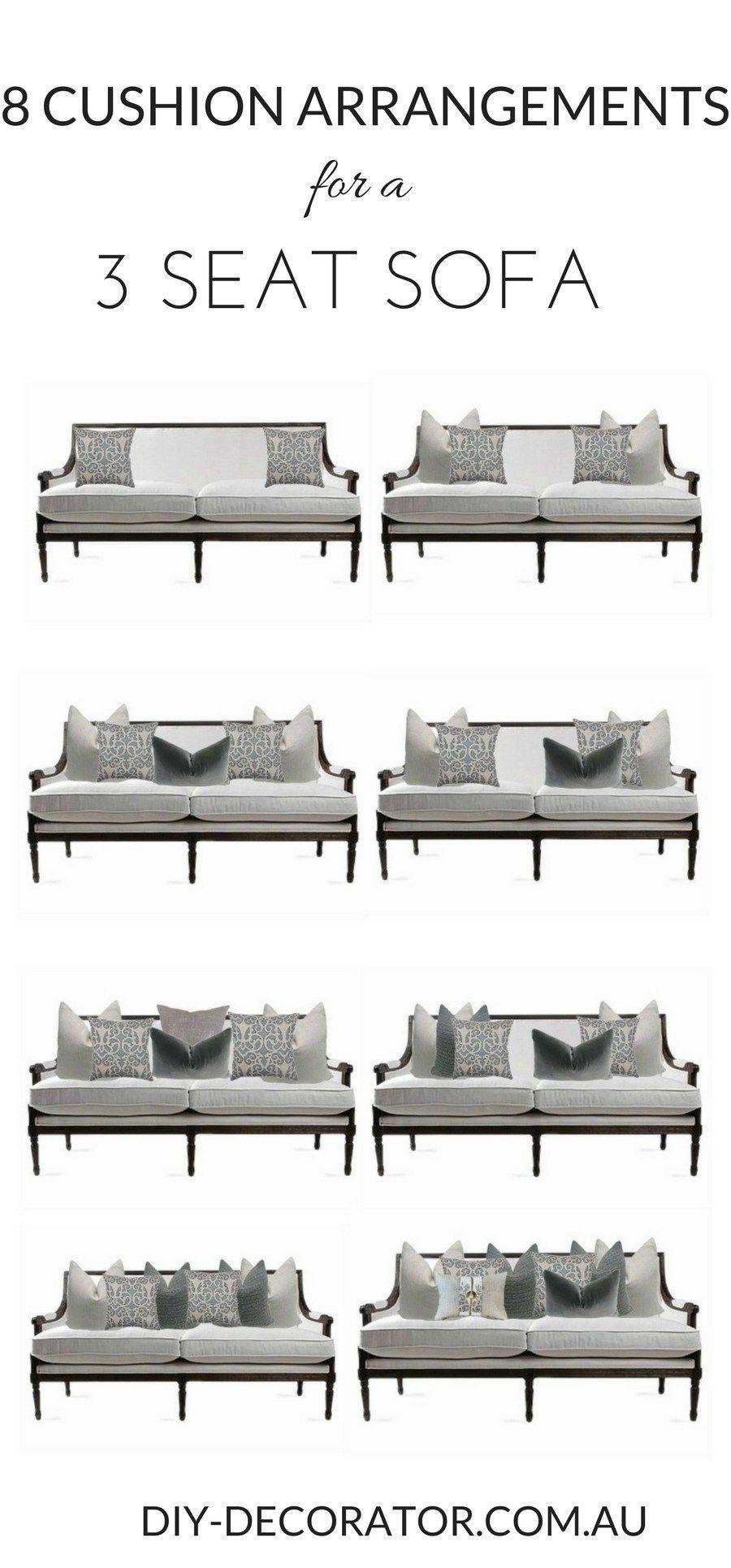 pillow arrangement couch | Sofa pillows