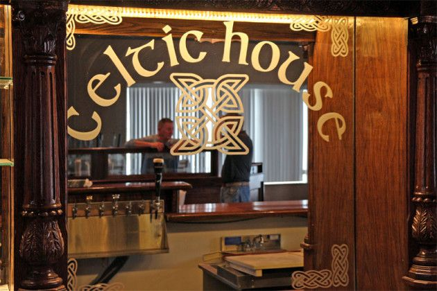 images of irish pub behind bar | The logo behind the bar of The ...
